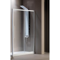 Flow Slider (1+1) White Matt Clean Glass 195 cm