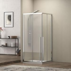 Karag Elysium 100 70x80x200cm Καμπίνα Ασύμμετρης Ντουζιέρας Με 2 Συρόμενες Πόρτες & Διάφανο Κρύσταλλο