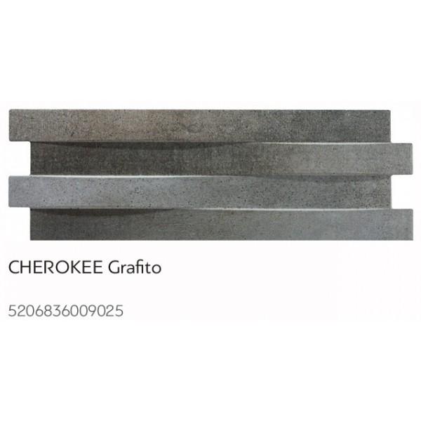 Karag Cherokee Grafito 17x52cm Πλακάκι - Πέτρα Επένδυσης Τοίχων
