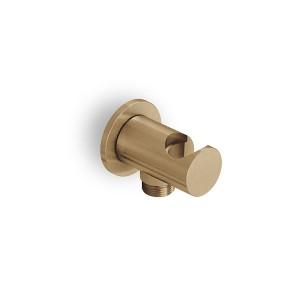 Eurorama Elleta Chester Επίτοιχη Παροχή Νερού Με Στήριγμα Τηλεφώνου Bronze Brushed C10131-221