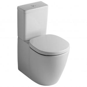 Ειδη Υγιεινης - Ideal Standard Connect E711801 Επιδαπέδια Λεκάνη Χαμηλής Πίεσης BTW Με Κάθισμα Soft Closing